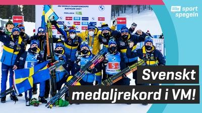 Svenska skidskyttarna tog rekordmånga VM-medaljer