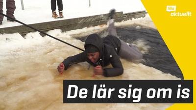 De lär sig om säkerhet på isen