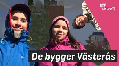 De bygger Västerås i Minecraft