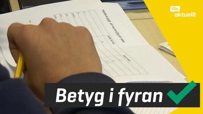 Nu kan skolor ge betyg från årskurs fyra