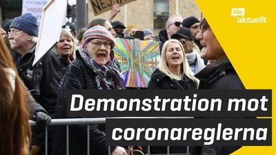Demonstration mot corona-restriktioner