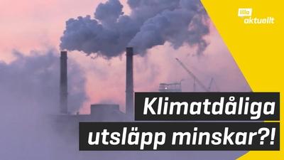 Utsläppen av koldioxid minskade 2020