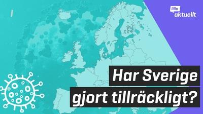 Har Sverige gjort tillräckligt för att bromsa smittan?