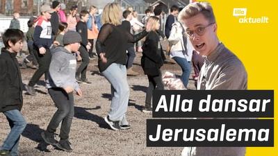 Hela skolan gör Jerusalema-challenge