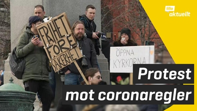 Demonstration mot coronaregler