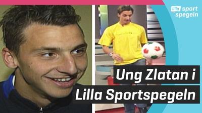 Se en ung Zlatan trixa i Lilla Sportspegeln