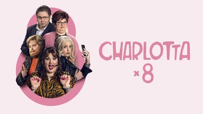Charlotta x 8. Svensk humorserie från 2021. Receptionistans flörtande med sjuksköterskan går snett medan mellanchefen sitter och dagsuper på sitt stammishak. Av och med Charlotta Björck.