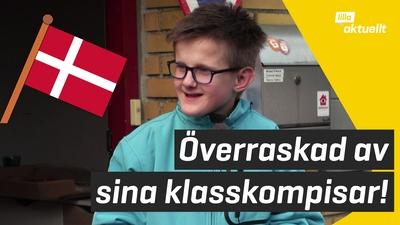 Se när klasskamraterna överraskar Rasmus!