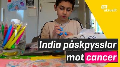 India pysslar - och samlar in pengar