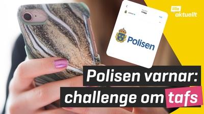 Polisen varnar för challenge i sociala medier