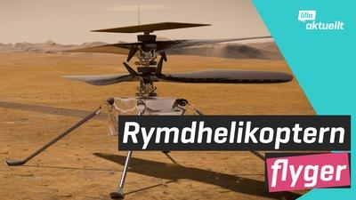 Helikopter flög på Mars!