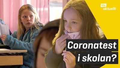Coronaviruset sprids i skolor