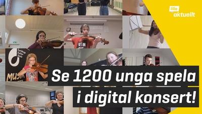 Se 1 200 unga spela i digital konsert!