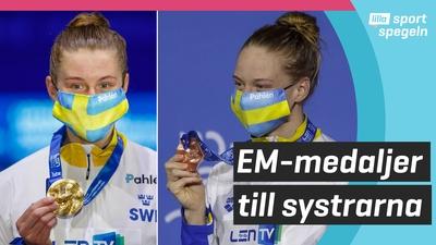 Systrarna Hansson simmar hem medaljer på EM