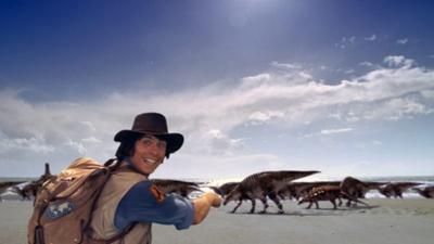 Fotavtryck från en Iguanadon