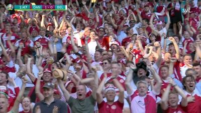 Poulsen ger Danmark en drömstart mot Belgien