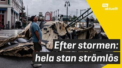 Stormen Ida har nått USA