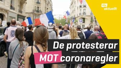 Tusentals människor demonstrerar mot coronaregler