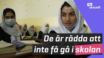 Oro hos elever på flickskola i Afghanistan