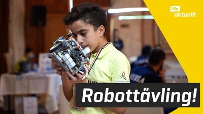 Robottävling i Syriens huvudstad Damaskus
