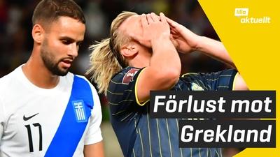 Sverige förlorade mot Grekland i VM-kvalet