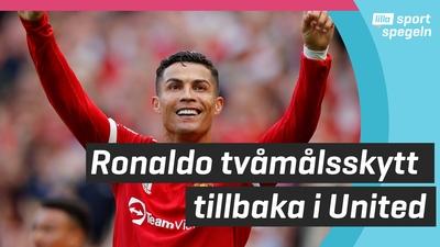 Ronaldo tvåmålsskytt direkt i återkomsten