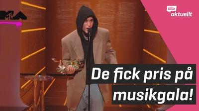 Inte bara musik i fokus på MTV-galan