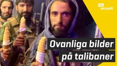 Varför poserar talibanerna med glass?