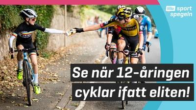 12-årig cyklist imponerade på proffsen