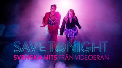 Programledare Peter Siepen och Josefine Jinder. - Save Tonight – svenska hits från videoeran