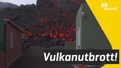 Stort vulkanutbrott på spansk ö