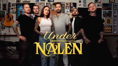 Ludvig, Joel, Michelle, Adrian, Sebastian och Andy i Under nålen.