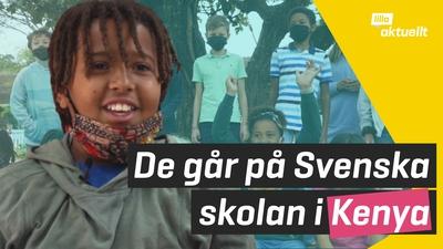 De går i svenska skolan i Nairobi