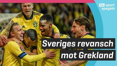 Sverige vann VM-kvalmatchen mot Grekland
