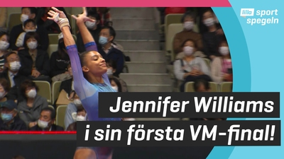 Jennifer Williams i sin första VM-final!
