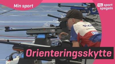 Hjalmar och Henning provar på orienteringsskytte