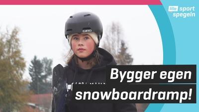 Lova skottade egen snowboardbacke