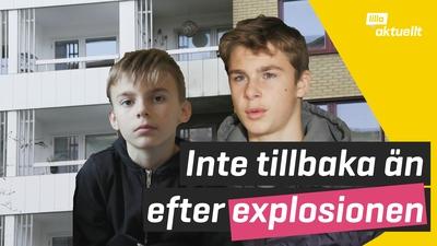 De fick fly sina hem vid explosionen i Göteborg