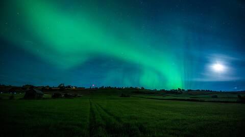 I byn Kaxås i Jämtland kl 01:00 i natt 24/8.