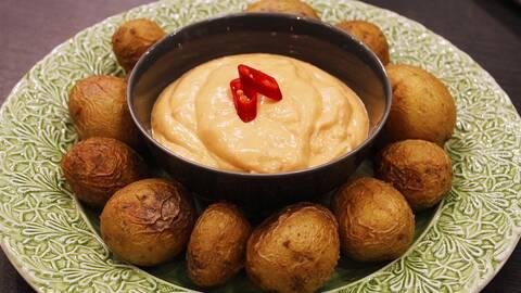 Potatis och chilimajonnäs