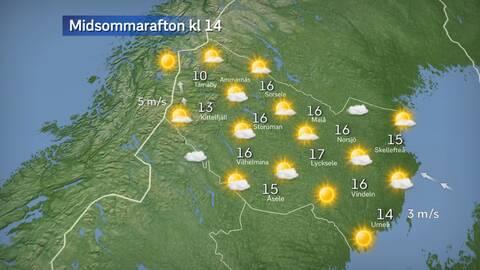 Så blir vädret på midsommar där du bor | SVT Nyheter