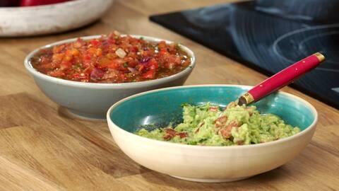 Zeinas guacamole och salsa.