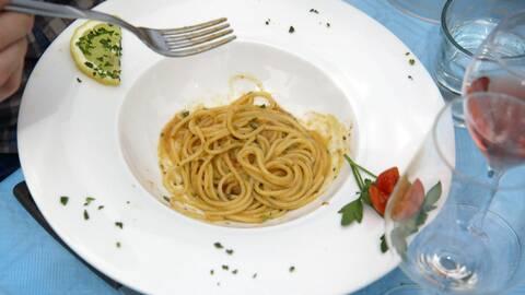 Spaghetti con ricci di mare.