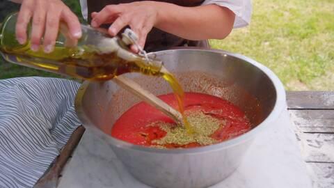 Sandras tomatsås utan kokning.