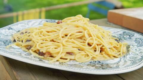 Mastios Pasta Carbonara.