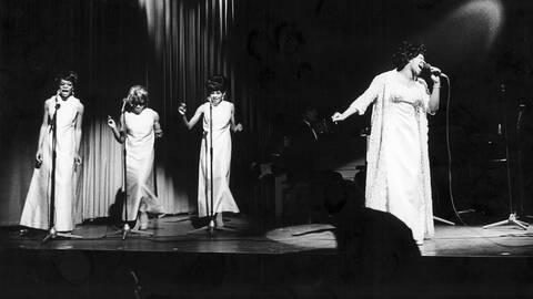 Aretha Franklin vid en konsert 1968, några år innan dess att den kommande dokumentären spelades in
