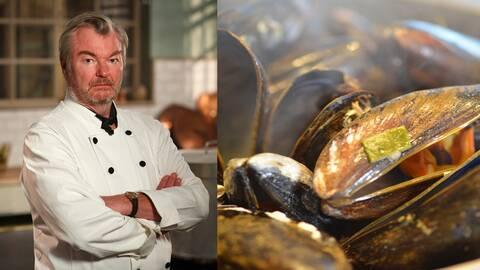 Musselsoppa Riesling och Peter Dalle från Vår tid är nu.