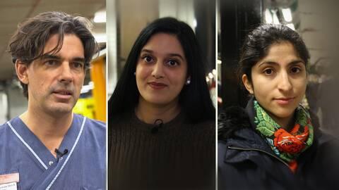 Tre personer på en bild