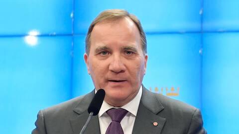 Stefan Löfven håller presskonferens efter samtalet med talmannen