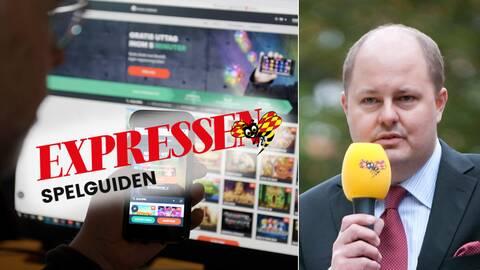 Expressens ansvarige utgivare Thomas Matsson (t.h) ser inga konstigheter med intäktsmodellen för Expressens nya spelsajt.